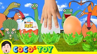 [EN] Dino's surprise eggs! dinosaurs animation for children, hatching dinos eggsㅣCoCosToy