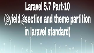 Laravel 5.7 for beginners part-10 Hindi (HTML Theme partition, @yield and @section)