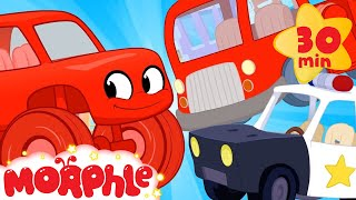 Moprhle and The Giant Cars - My Magic Pet Morphle  Cartoons For Kids  Morphle  Mila and Morphle