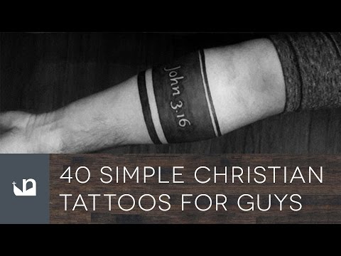 40 Simple Christian Tattoos For Men