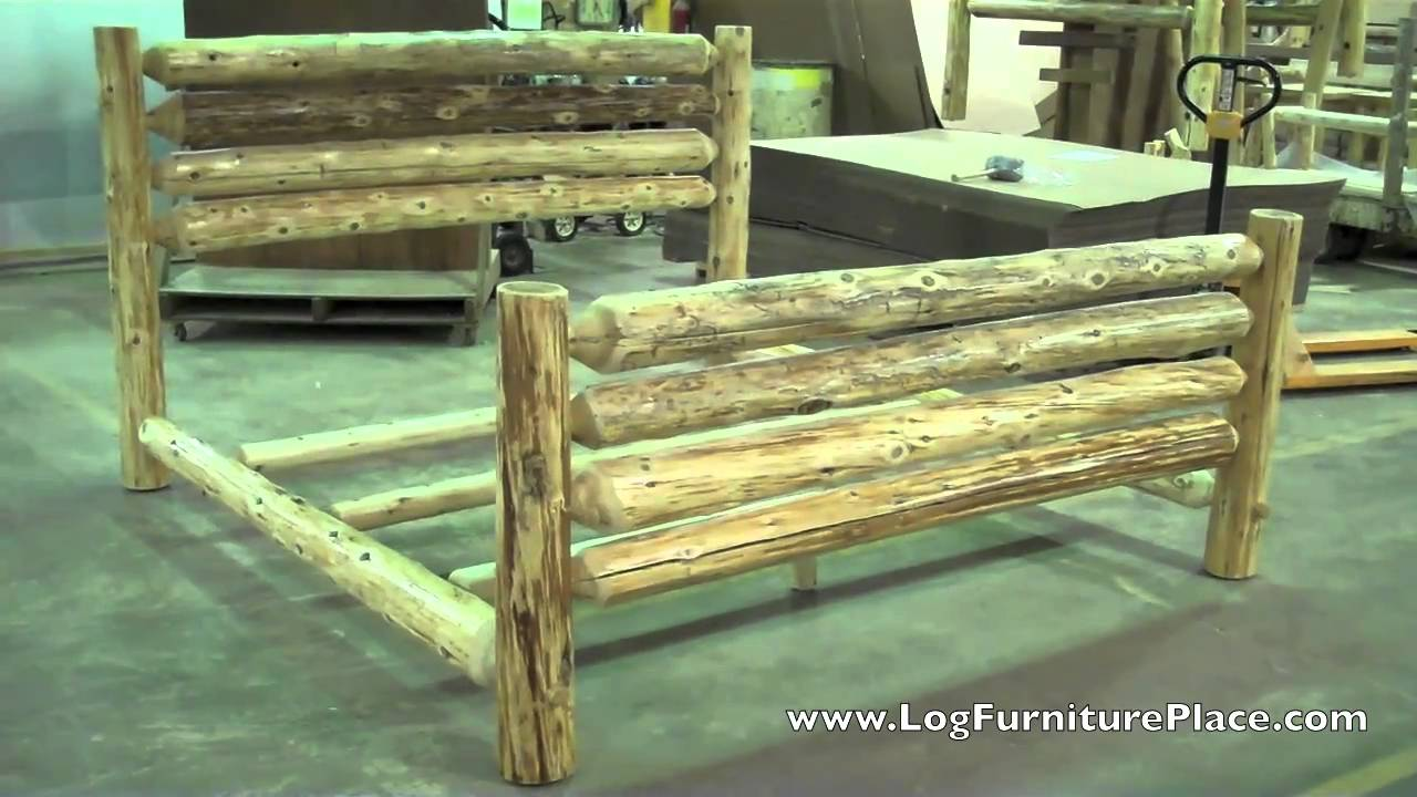 Cedar Lake Rodeo Log Bed | Cabin Beds | Cabin Furniture From JHEu0027s Log  Furniture Place   YouTube