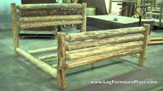 Cedar Lake Rodeo Log Bed | Cabin Beds | Cabin Furniture From Jhe's Log Furniture Place