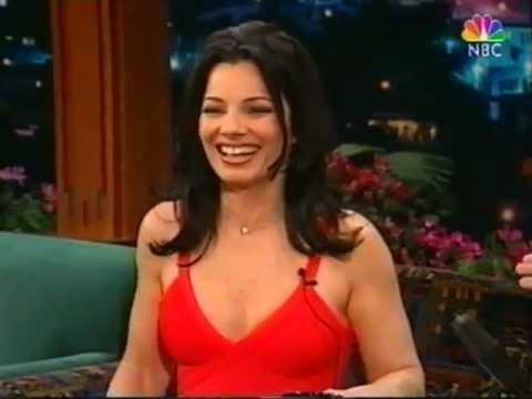 Fran Drescher laughing a lot on Jay Leno - 1997