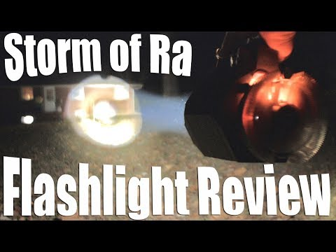 Storm of Ra Flashlight Review. Active Cooling, 6000 lumens, 635000 candela.  Jesus.