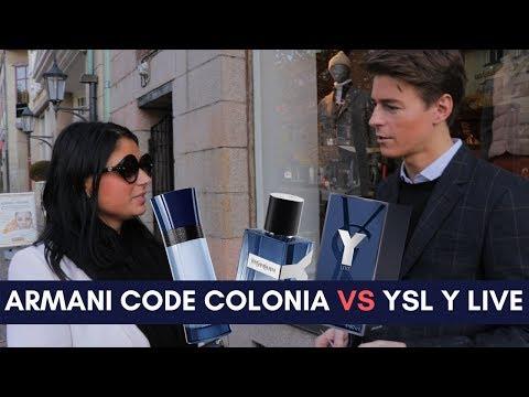 Armani Code Colonia VS. YSL Y Live - Girls Reactions