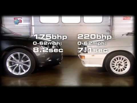 Fifth Gear. Old vs New. Audi Quattro vs Audi A5 in track