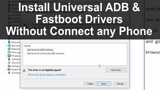 How to install ADB & Fastboot Drivers Manually  by Techno Trooper