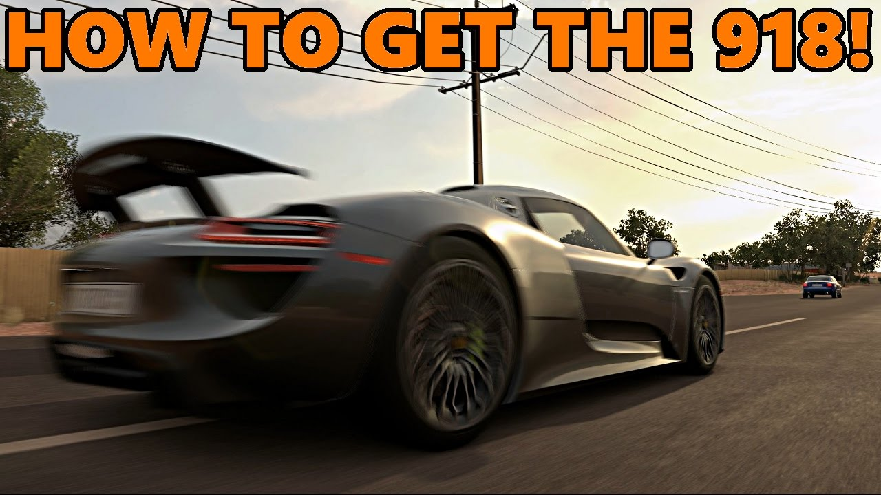 forza horizon 3 how to get the 918 spyder easily youtube. Black Bedroom Furniture Sets. Home Design Ideas
