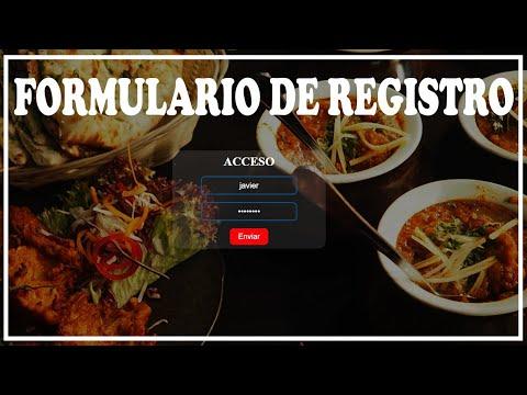 como hacer un formulario de registro en html y css