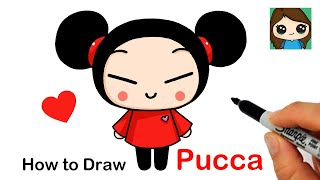 How to Draw Pucca  Cute Asian Girl