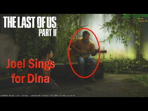 "Joel plays ""Take On Me"" to Dina - The Last of Us Part II Mod"