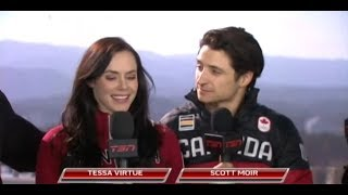 Jay and Dan's Side Seats with Tessa Virtue & Scott Moir - February 20, 2018