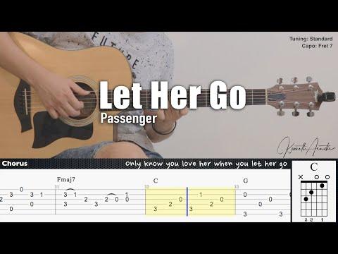 Let Her Go - Passenger   Fingerstyle Guitar   TAB + Chords + Lyrics