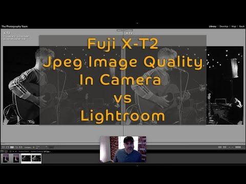 Fuji X-T2 - Comparing Jpegs exported from Camera and Lightroom
