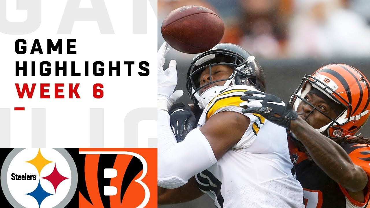 bb1cc8b5 Steelers vs. Bengals Week 6 Highlights | NFL 2018