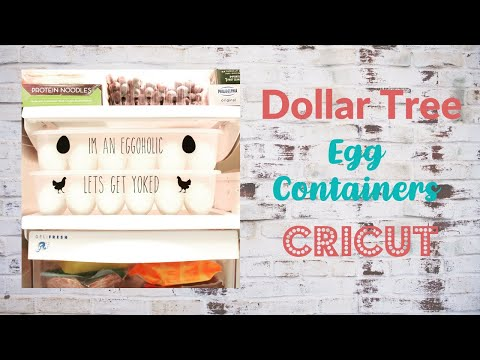 How To Place Vinyl On A Dollar Tree Egg Containers Cricut