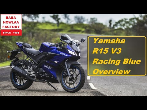 2019 Yamaha R15 V3 Edition Quick Overview | New r15 v3 Racing Blue Details Review With Tire Pressure