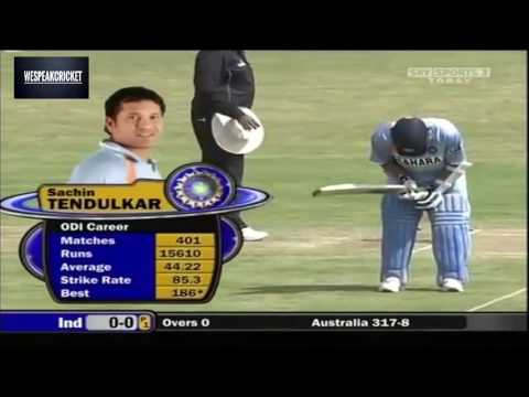 Sachin & Ganguly one of the best open patnership against australia in 2007 at Nagpur