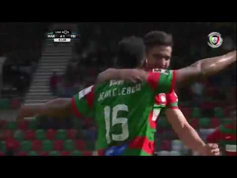 Marítimo (4)-1 Feirense (Liga 24ªJ): Golo de Jean Cléber