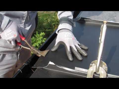 видео: Фальцевая кровля,сопряжение фальца с карнизным свесом(мысик)