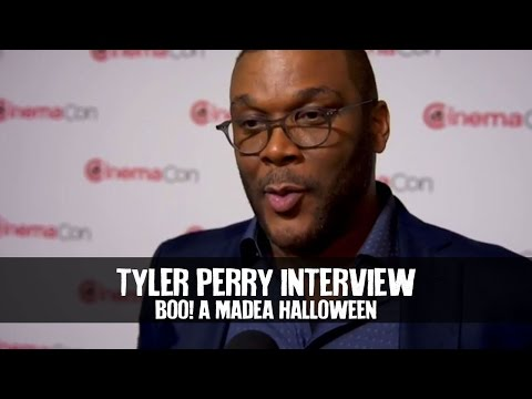 Tyler Perry Interview BOO! A MADEA HALLOWEEN at CinemaCon (2016) (HD)