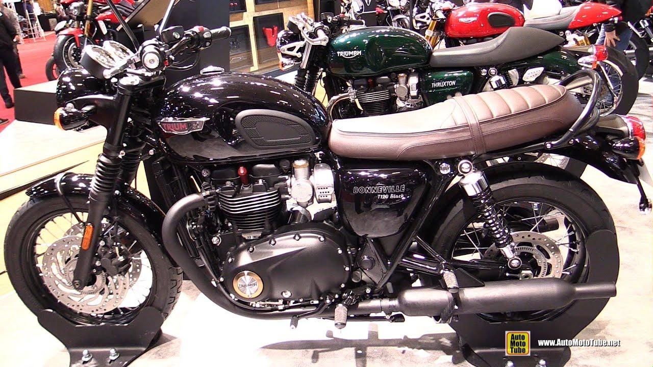 2016 triumph bonneville t120 black walkaround 2015 salon de la moto paris youtube. Black Bedroom Furniture Sets. Home Design Ideas