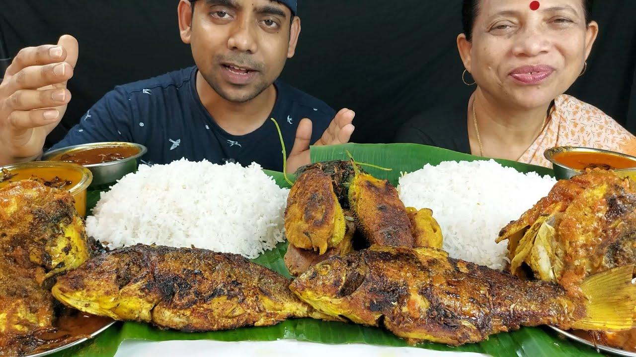 Food Show Amazing and Delicious Fish Thali Mukbang Eating Show
