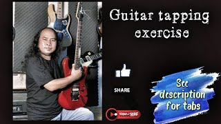 Guitar Tapping Exercise| David Kakaap| See description for Tabs