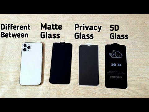 iphone-11-pro-max-privacy-glass,-matte-&-10-d-screen-protector-difference- -how-to-apply
