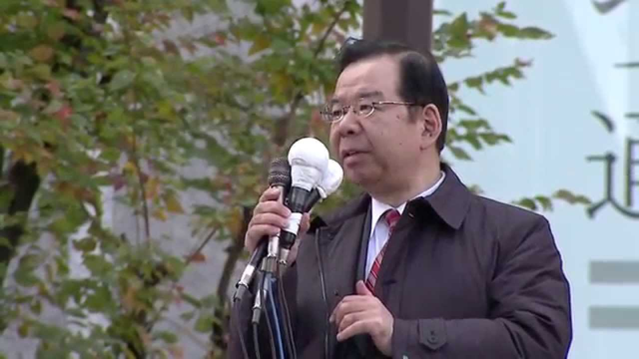 JCP OSAKA  公示訴え 志位和夫委員長(大阪ヨドバシカメラ) JCP OSAKA  公示