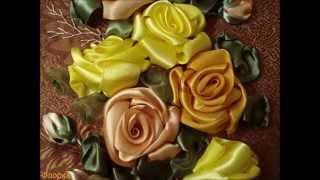видео уроки вышивка лентами мастер класс