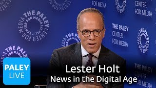 Lester Holt - On Anchoring, Influences, Interviewing Trump, and Moderating a Presidential Debate
