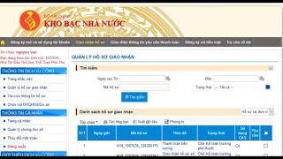 Hướng dẫn Đơn vị Quan hệ ngân sách giao nhận hồ sơ trực tuyến