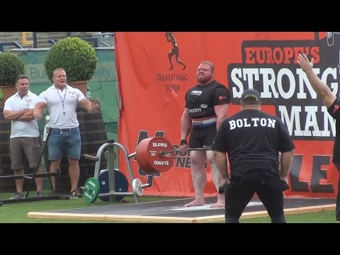 Europe's Strongest Man 2014 - New deadlift world record - Benedikt (Benni) Magnusson