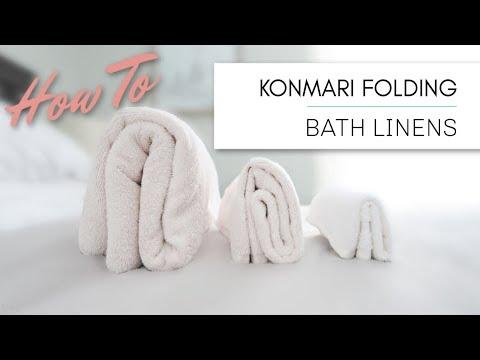 KonMari Method Folding | Bath Linens - Towels