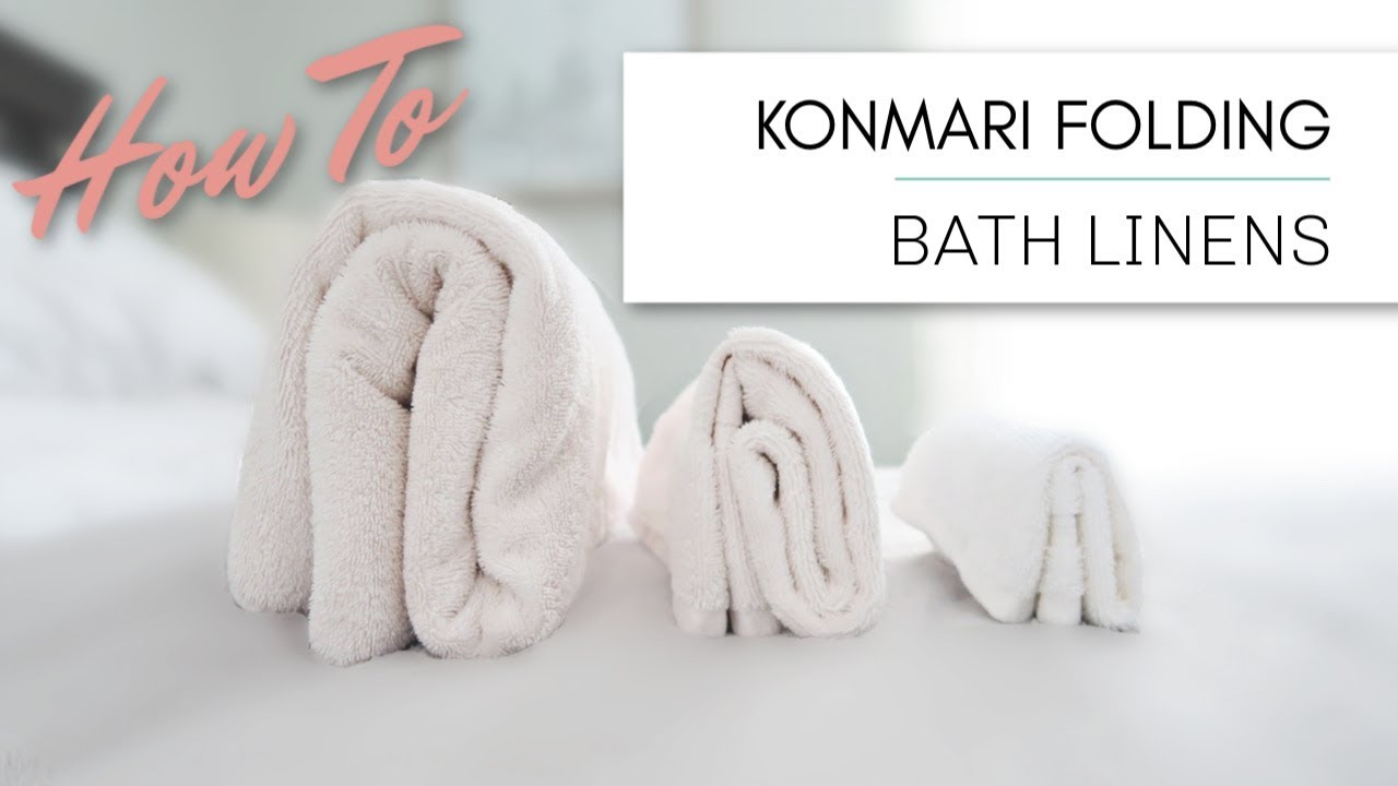 Marie Kondo Konmari Folding Bath Linens Towels