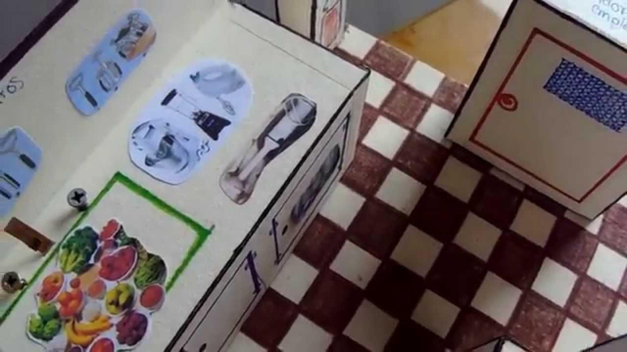 V deo cocina maqueta youtube for Planos para hacer una cocina de juguete