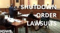 Lawsuits over coronavirus shutdown orders