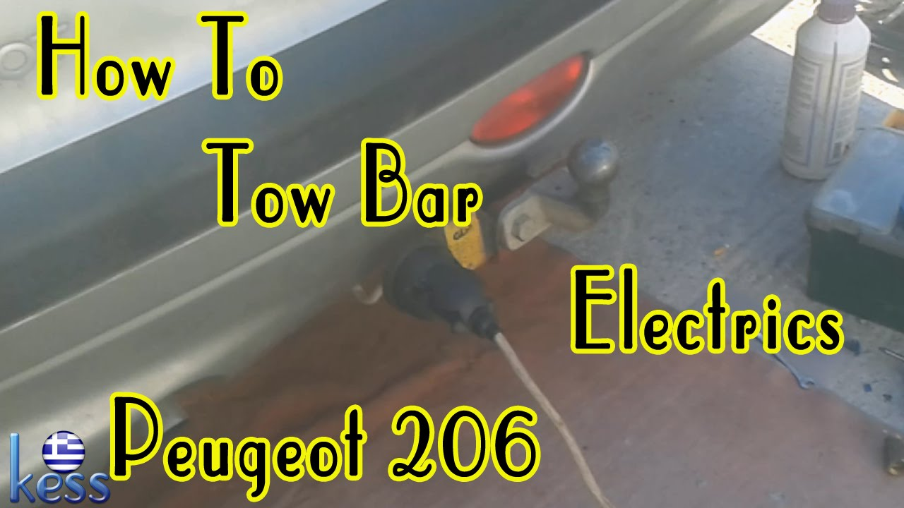how to tow bar hitch wiring electrics peugeot 206 youtube rh youtube com
