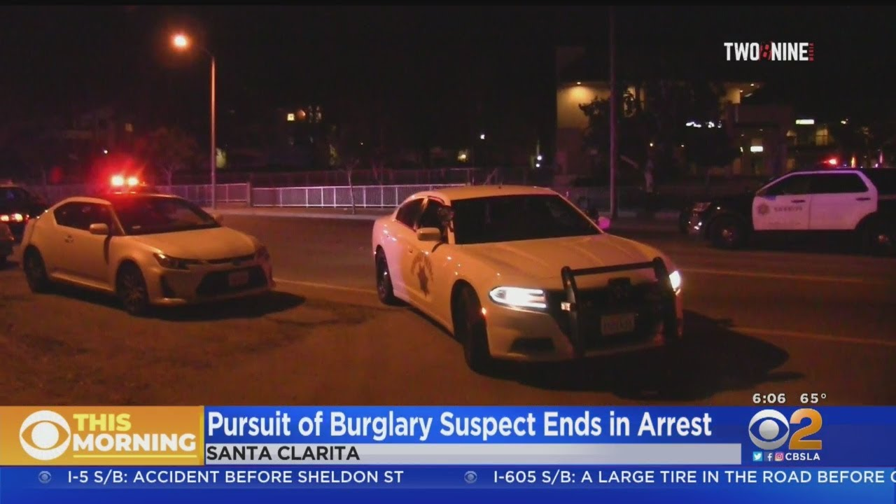 Burglary Suspect Arrested After Leading High-Speed Chase