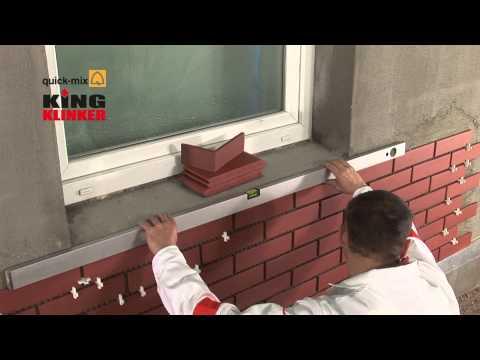 Монтаж клинкерной плитки на фасадах