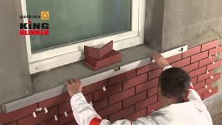 видео Укладка клинкерной плитки и керамогранита: облицовка фасада