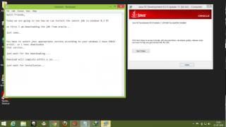 How to install JAVA or JDK in Windows 8.1