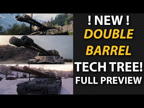 First Impressions Double Barrel Tech Tree Tanks - World Of Tanks