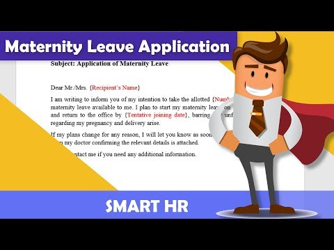 Best Maternity Leave Application Sample Email | #maternityleave | Smart HR