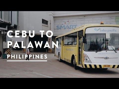CEBU TO PUERTO PRINCESA   Philippines Travel Vlog 021, 2017