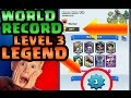 WORLD RECORD! LVL 3 in LEGENDARY ARENA l Clash Royale