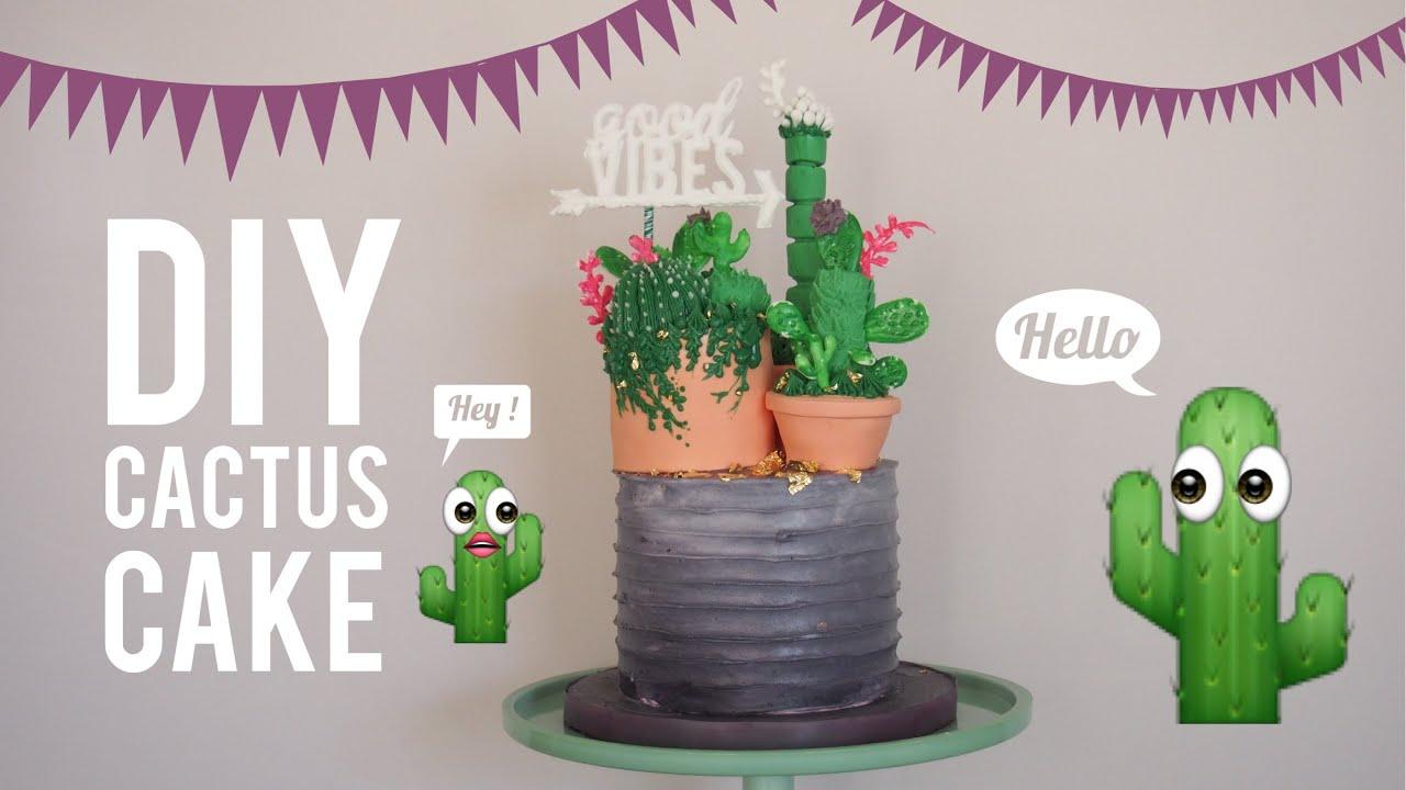 Diy Cactus Cake Most Satisfying Cake Decorating Video