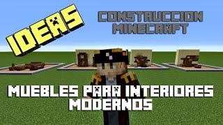 Ideas de Construcción Minecraft - Muebles - Interiores Modernos -