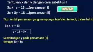 Download Video Cara Mudah Menggunakan Metode Substitusi Pada SPLDV MP3 3GP MP4